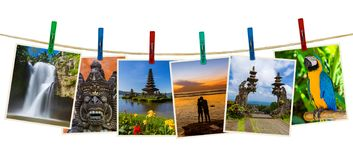 Bali Indonesia travel images my photos on clothespins stock photo