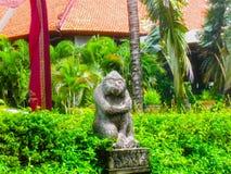 Bali Indonesien - Januari 02, 2009: Den huvudsakliga ingången i den Ayodya semesterorten Arkivfoton