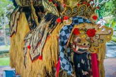 BALI, INDONESIEN - 8. MÄRZ 2017: Typische Balinesekostüme hergestellt vom Reiskorn, von den Bohnen und von den Körnern innerhalb  Lizenzfreie Stockfotografie