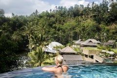 Bali Indonesien Mandapa Ritz Carlton Reserve 08 10 2015 Stockbild
