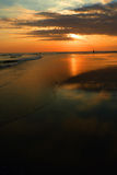 Bali Indonesien, solnedgång, hav Royaltyfria Foton