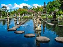 Bali Indonezja, Kwiecień, - 15, 2012: Wodny pałac Taman Ujung zdjęcie royalty free