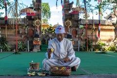 BALI INDONEZJA, MAJ, - 5, 2017: Barong taniec na Bali, Indonezja Barong jest religijnym tanem w Bali opierał się na wielkim Fotografia Royalty Free