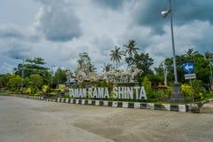 BALI INDONEZJA, MARZEC, - 08, 2017: Telajakan Dan taman ramy sinta jalan statua w śmiertelnie mengwitani, lokalizować wewnątrz Zdjęcia Stock