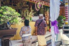 BALI INDONEZJA, PAŹDZIERNIK, - 23, 2017: Ślubna ceremonia, balijczyka ślub Obraz Stock