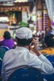 BALI INDONEZJA, PAŹDZIERNIK, - 23, 2017: Balijczyka mężczyzna na Ślubnej ceremonii, balijczyka ślub Zdjęcia Royalty Free