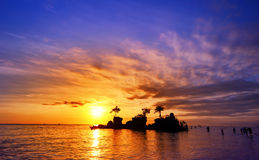 Bali island in Indonesia at sunset with beautiful sky Stock Image