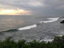 Bali island ocean sun down stock photos
