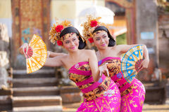 BALI - June 27 : girl performing traditional Indonesian dance at Stock Photography