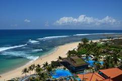 Bali-Küstehotel Stockfoto
