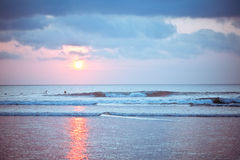 Bali Kuta Beach sunset Royalty Free Stock Photo