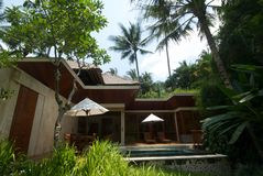 Bali-Landhaus Lizenzfreie Stockfotos