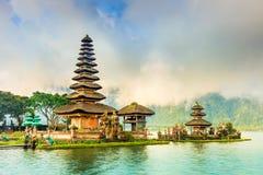 Bali landmarks: Balinese hindu temple Pura Ulun Danu Bratan on Bratan lake at sunrise. Bali, Indonesia Stock Photography