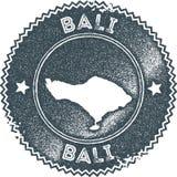 Bali map vintage stamp. vector illustration