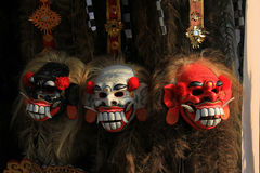 Bali mask. Barong is a lion-like creature and character in the mythology of Bali, Indonesia. He is the king of the spirits, leader of the hosts of good, and Stock Photography
