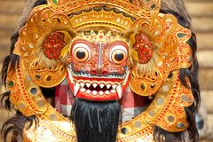 Bali mask during a classic national Balinese Stock Image