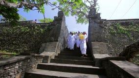 BALI - MAY 2012: ceromony in uluwatu temple stock video footage