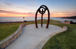 Bali Memorial  Coogee Beach Australia  at sunrise Stock Images