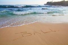 Bali na plaży Zdjęcia Stock