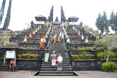 BALI – OCTOBER 17: Unidentified tourists visiting Besakih temp Stock Images