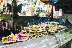 Bali offerings fruits. To god, at temple Stock Images