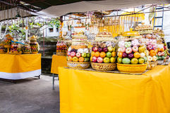 Bali offerings fruits. To god, at temple Royalty Free Stock Images