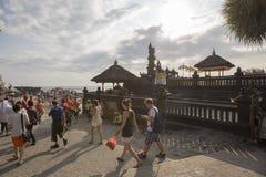 Bali, około Wrzesień 2015: Tanah udziału świątynia znacząco ind świątynia Bali, Indonezja Obraz Royalty Free