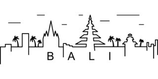 Bali outline icon. Can be used for web, logo, mobile app, UI, UX vector illustration