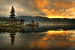 Bali - Pura Ulun Danu Bratan Wasser-Tempel Stockfotografie