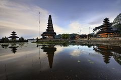 Bali Pura Ulun Danu Bratan Water Temple Stock Photo