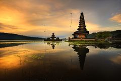 Bali Pura Ulun Danu Bratan Water Temple Royalty Free Stock Images