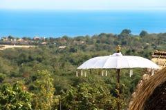 Bali-Regenschirm Stockfotos