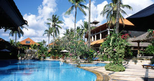 Bali Resort Hotel Indonesia. Luxury holiday accomodation, Bali, Indonesia royalty free stock images