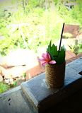 Bali resort hotel welcome drink Royalty Free Stock Photo