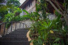 Bali Resort, stairs to hotel Royalty Free Stock Images