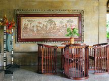Bali resort welcoming lobby area Royalty Free Stock Photography