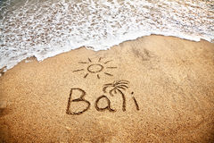 Bali on the sand Royalty Free Stock Photography