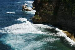 Bali Seawater. Photoed in famouse  cliff located in Bali Stock Photo