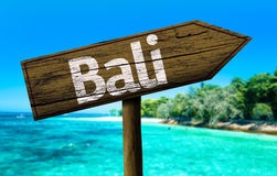 Bali sign on the beach Stock Photography