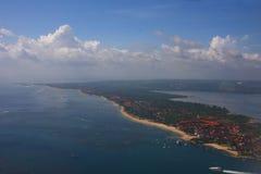 Bali at sky. Bali at air with blue sky Royalty Free Stock Images
