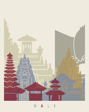 Bali skyline poster Stock Photography