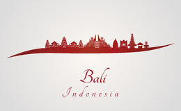 Bali skyline in red Stock Images
