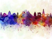 Bali skyline in wb Stock Photo