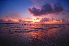 bali solnedgång Royaltyfri Fotografi