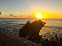 Bali solnedgångsikt royaltyfri fotografi