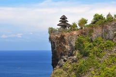 Bali sommar 2014 sikt av den buddistiska templet arkivfoto