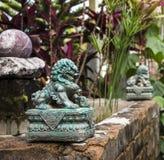 Bali stilträdgård arkivfoto