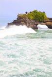 bali strandindonesia tempel Arkivfoto