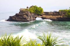 bali strandindonesia tempel Royaltyfria Bilder