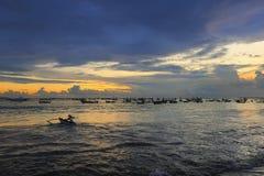 bali strandjimbaran Royaltyfria Bilder